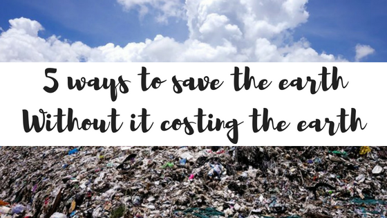 Save the earth banner