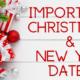 Christmas dates logo